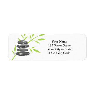 Zen pebble stone rock stack return address labels
