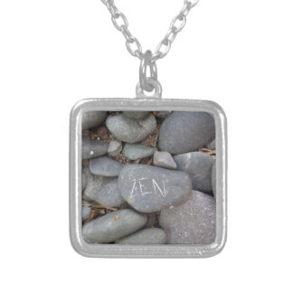 Zen Pebble Stones Inspirational Jewelry Grey Stone
