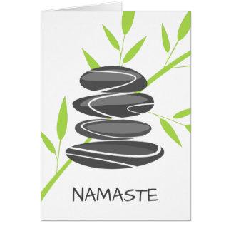 Zen pebble stones yoga meditation greeting card