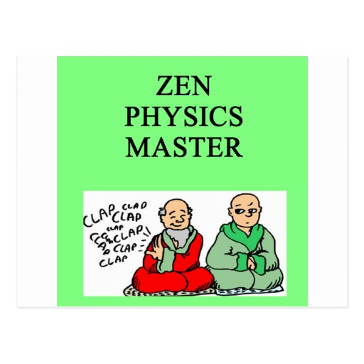 zen physics master post card