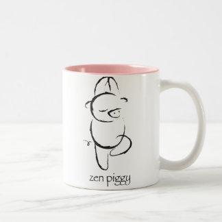 Zen Piggy Two-Tone Coffee Mug