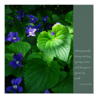 Zen Proverb Quote Poster