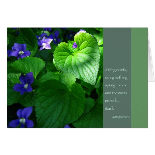Zen Proverb Quote Poster Card