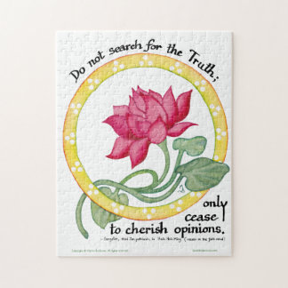 Zen quote and lotus - jigsaw puzzle