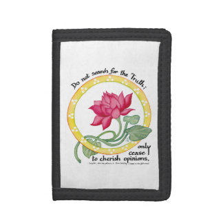 Zen quote and lotus - trifold wallets