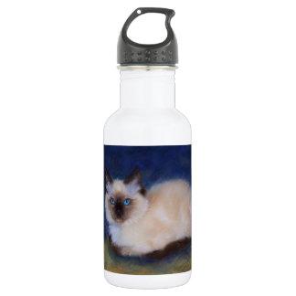 Zen Ragdoll kitten painting 18oz Water Bottle