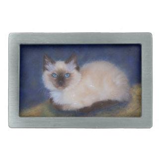 Zen Ragdoll kitten painting Belt Buckle