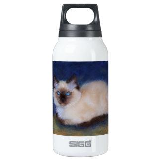Zen Ragdoll kitten painting 10 Oz Insulated SIGG Thermos Water Bottle