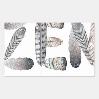 Zen Rectangular Sticker