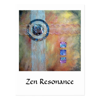 Zen Resonance - mixed media Postcard