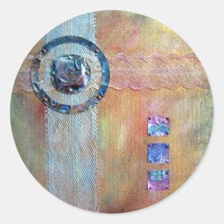 Zen Resonance - mixed media Sticker