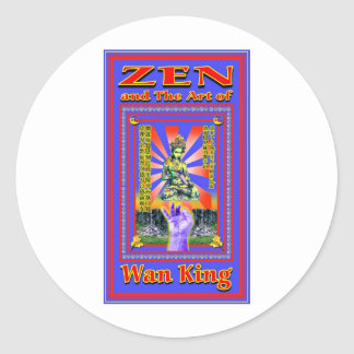 Zen Retro Hard Wok Classic Round Sticker