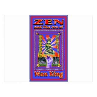 Zen Retro Hard Wok Postcard