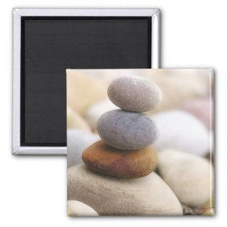 Zen Rock Garden 2 Inch Square Magnet