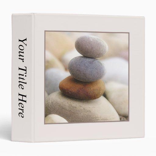 Zen Rock Garden 3 Ring Binder
