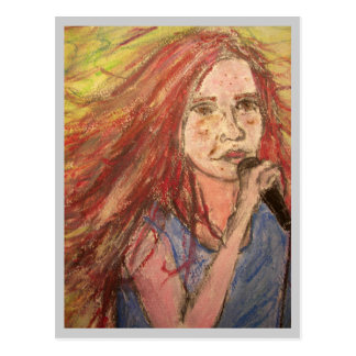 Zen Rocker Girl Postcard