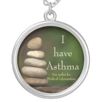 Zen Rocks Asthma Medical ID Necklace