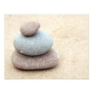 Zen Rocks Custom Invitations
