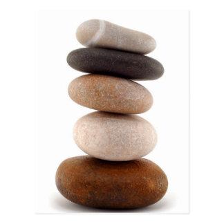 Zen Rocks; Postcard