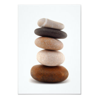 Zen Rocks; Wedding Invitation