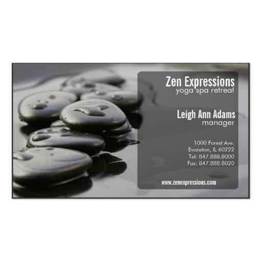 Zen rocks yoga business card zazzle for Zen business cards