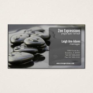 zen rocks yoga business card