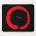 Zen rojo Mousepad 2 Tapetes De Ratones