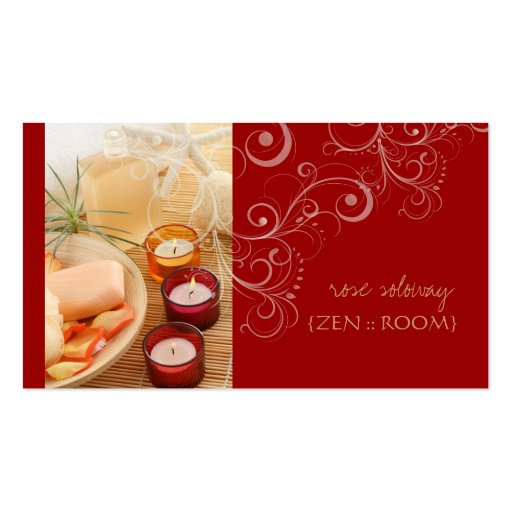 Zen room candle swirls business cards zazzle for Zen business cards