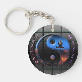 Zen-sation Single-Sided Round Acrylic Keychain