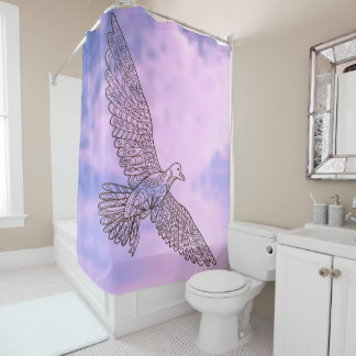 Zen Seagull Shower Curtain