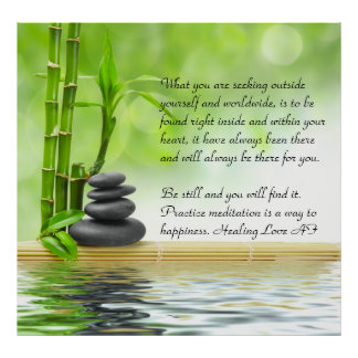 Zen,serenity,mediation,yoga,peace,happiness,rest Poster