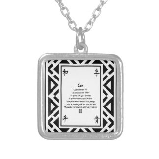 Zen Silver Plated Necklace
