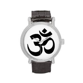Zen simple de la meditación de la yoga del símbolo relojes de mano