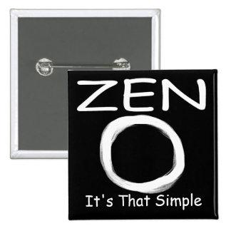 Zen Simplicity Pinback Button