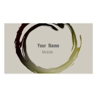 Zen Sketch Double-Sided Standard Business Cards (Pack Of 100)