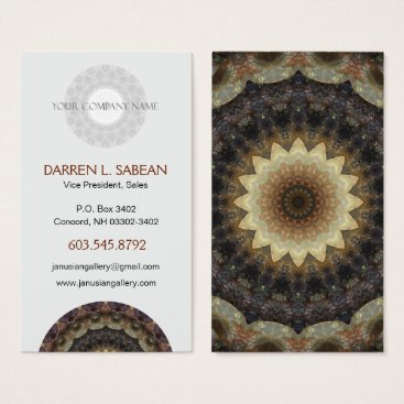 "Professional Business Zen Spa Beach ""Seashells"" Mandala Business Card"
