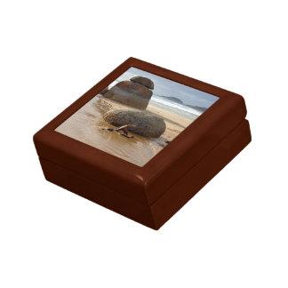 Zen Stacked Boulders on Beach Gift Box