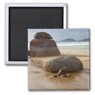 Zen Stacked Boulders on Beach Magnet
