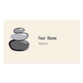 Zen Stacked Stone Sketch Business Card