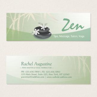 ZEN Stone Bamboo YOGA SPA Massage Beauty Salon Mini Business Card