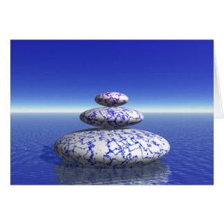 Zen Stone Blue Purple Ocean Love Peace Inspiration Card