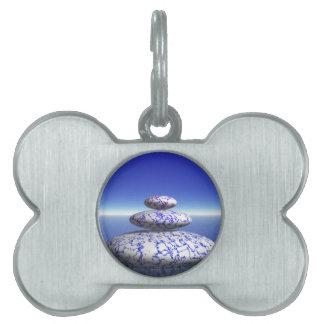 Zen Stone Blue Purple Ocean Love Peace Inspiration Pet ID Tag