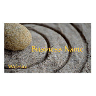 Zen Stone Double-Sided Standard Business Cards (Pack Of 100)