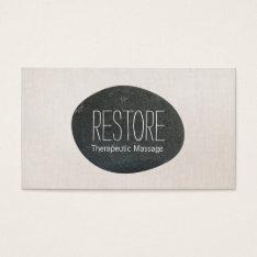 Zen Stone Massage Therapist & Meditation Teacher 2 Business Card at Zazzle
