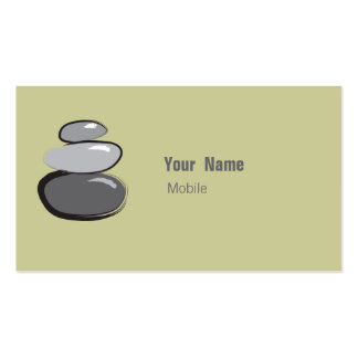 Zen Stone Stacked Sketch Business Card
