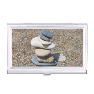 Zen stones business card case