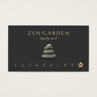 Zen Stones Massage Therapist Loyalty Punch Card