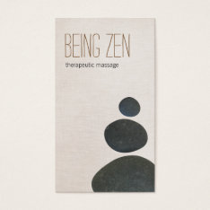 Zen Stones Massage Therapist & Meditation Teacher Business Card at Zazzle