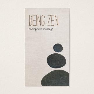 Zen Stones Massage Therapist & Meditation Teacher Business Card