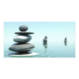 Zen Stones Midday Personalized Photo Card